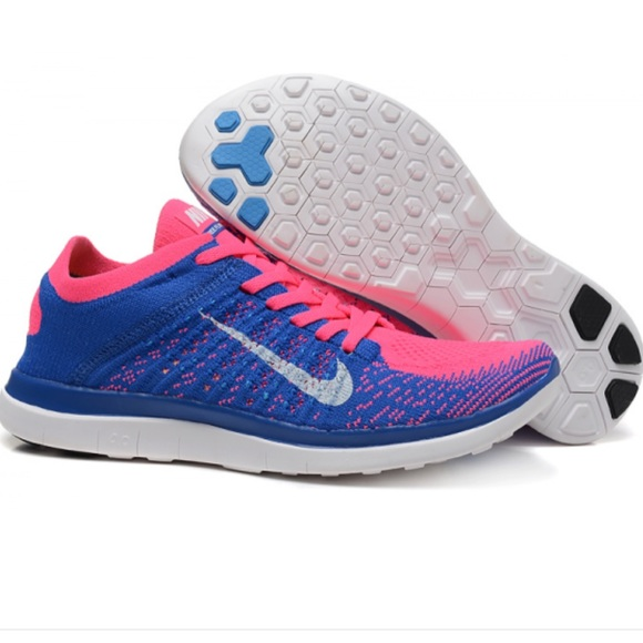 finest selection 9afaf 5f4ae UPDTED PICS Nike Free 4.0 Flyknit Pink   Blue (8).  M 5ba7e8de6a0bb7bbaccc2ef8